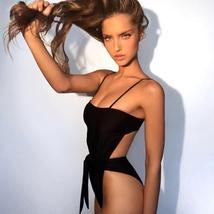 Womens New Sexy Push Up Elastic Bandage Solid Swimsuit image 2