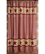 Jamestown Burgundy And Tan Shower Curtain Farm House - $59.99