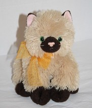 TY Classic CASSIDY Brown Himalayan Cat Green Eyes Kitten Plush 2005 Stuf... - $19.32