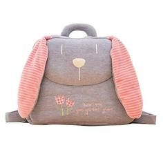 PANDA SUPERSTORE Creative Lovely Cozy Children's Backpack/Plush Backpack(Gray Ra - $33.99