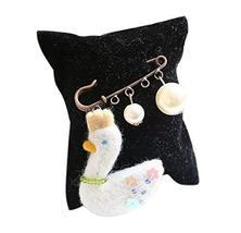 Cute Cartoon Animal Wool Felt Brooch Pin Clothing Accessories, Swan