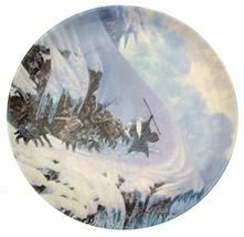 Danbury Mint Wedgwood Lord of The Rings Plate The Anger of The Mountain ... - $50.96