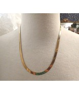 "14k Yellow Gold Herringbone Chain Necklace 20"" Long 11.56g MilIor Italy ... - $564.29"