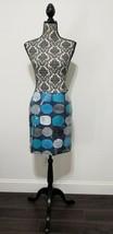 New Ann Taylor Petites Sequin Blue Gray Geometric Print Lined Pencil Ski... - $32.66