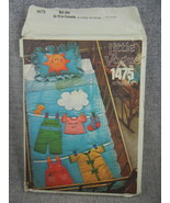 Crib size quilt and pillow sham pattern  with transfers  Vogue1475      ... - $9.00