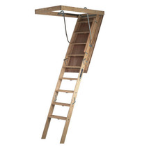 Attic Ladder Wooden 350 lbs Load Capacity 30 in. x 60 inch Open Ceiling ... - $340.99
