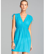 Lauren Ralph Lauren XLarge Crushed Farrah Swim Cover Up Aqua Cotton NEW - $47.52