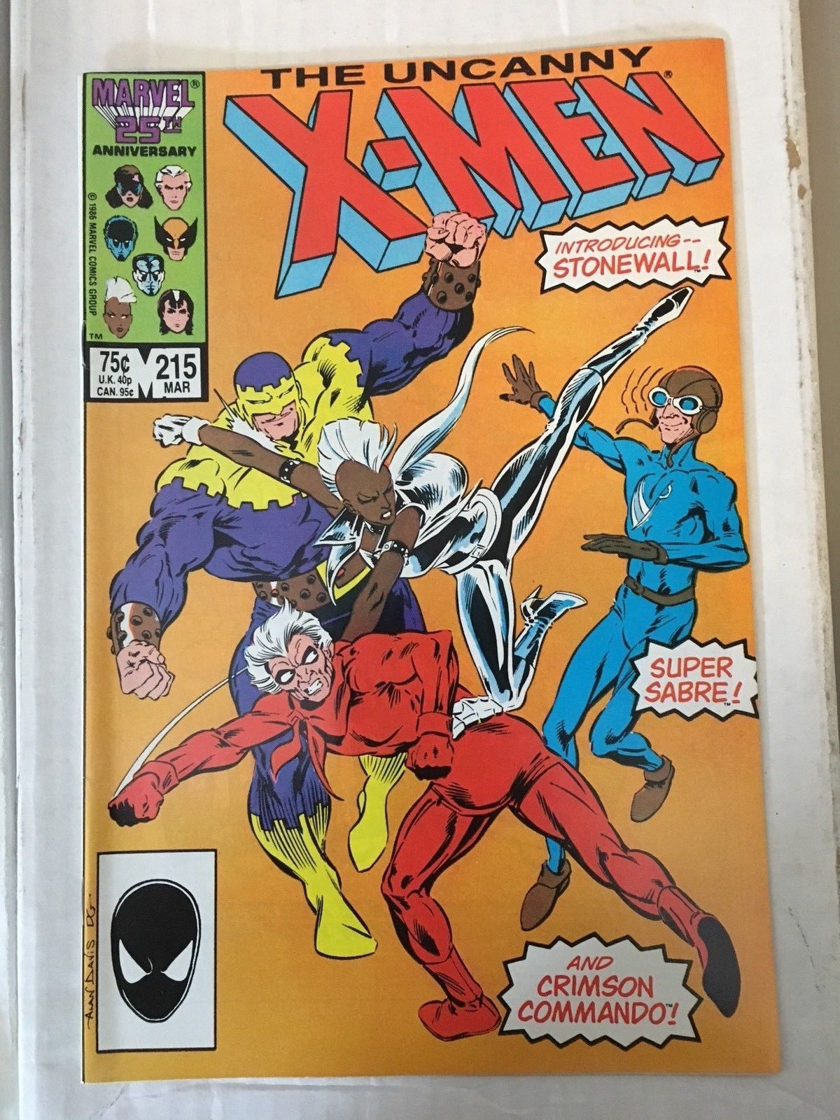 Uncanny X-Men #215 1987 NM Condition Marvel Comic Book High End Wolverine