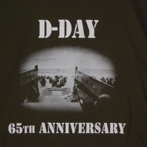 D-Day 65th Anniversary Army Green T-SHIRT Normandy  LARGE - $14.81