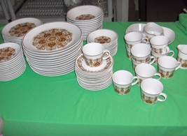 87 Pc Set Vintage Noritake Progression China Protea Pattern #9067 RARE - $272.25