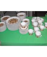87 Pc Set Vintage Noritake Progression China Protea Pattern #9067 RARE - $272.25
