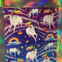 ⚡️SALE S277 Lisa Frank Full Sticker Sheet Markie The Unicorn HIGHLY SOUGHT AFT image 2
