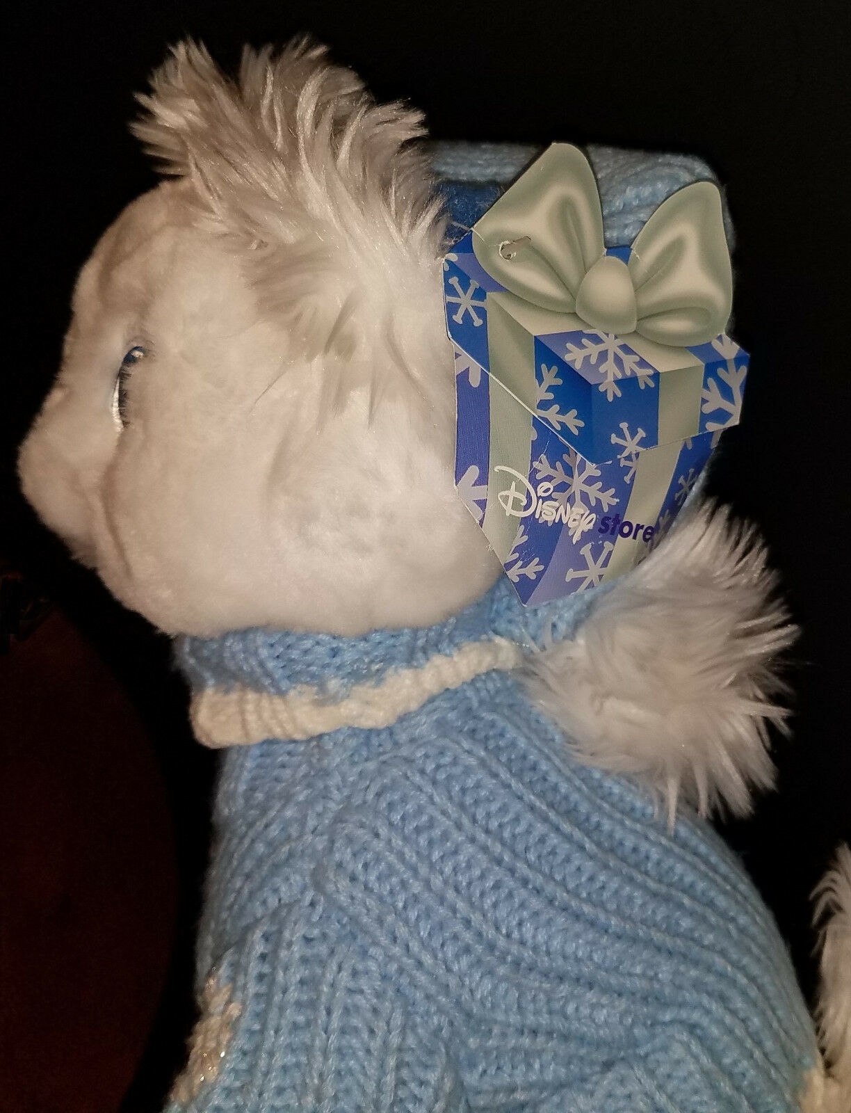 """Disney Store Exclusive Aristocats Marie Cat 12"""" Wearing Blue Sweater Hat Winter image 4"""