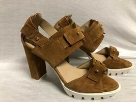 Bcbg Maxazria Shoes Heels Sandals Light Brown Suede Gold Hardware Size: 9B/39 - $23.36
