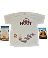 2006 HOOT Movie T-SHIRT Childs Youth LG White Dry Erase Board PRESS KIT ... - $14.99