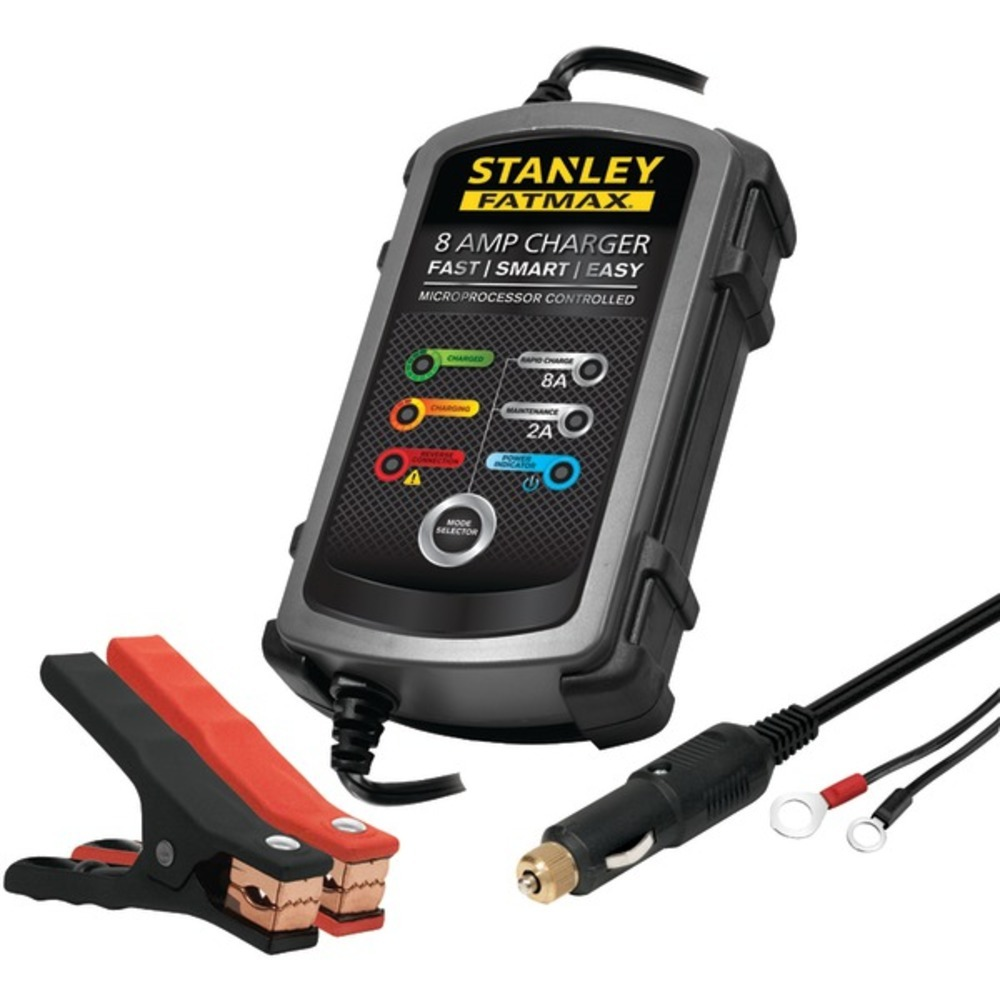 STANLEY BC8S 8-Amp FATMAX Battery Charger/Maintainer
