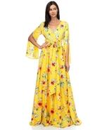 Yellow Floral Chiffon Maxi Dress - $45.00