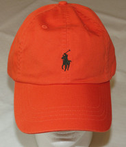Mens Polo Ralph Lauren hat cap golf casual Rafting Orange 4331023 adjust... - £25.50 GBP