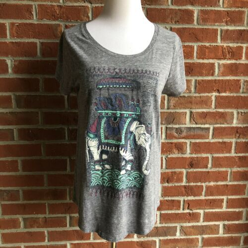 Primary image for Lucky Brand Elephant T-Shirt -Size M