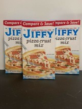 Jiffy Pizza Crust Mix, 6.5 oz, NEW Three (3) boxes!  Made in the USA! - $19.34