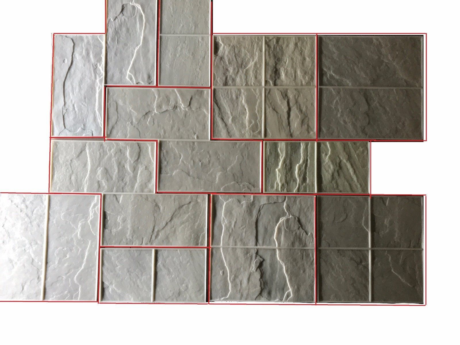 Concrete Stamp Slate Ashlar Concrete Stamp Flex Stamp Floppy Mat SM 2302/F