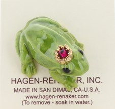 Hagen-Renaker Miniature Ceramic Frog Figurine Birthstone Prince 01 January image 3