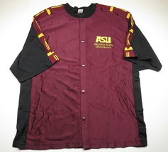 NEW WITH TAG NCAA Arizona State University Maroon Button Up Jersey Adult... - $2.019,15 MXN
