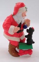 1993 Coca Cola Santa Claus w/ Black Poodle Pup Puppy Dog Gift Christmas ... - $11.53
