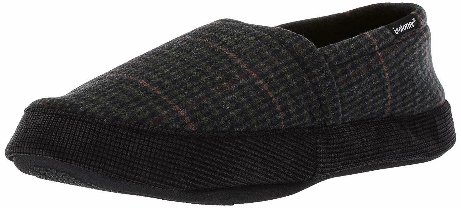 Men's Shoes Isotoner Memory Foam House Shoes Slippers Xxl 13-14 Faux Fur