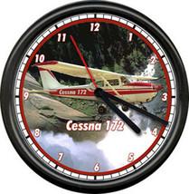 Cessna 172 Red Aircraft Pilot Airplane Personal Aircraft Sign Wall Clock - $21.12