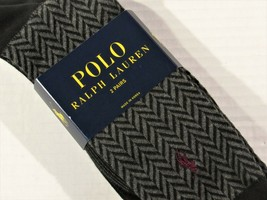 POLO Ralph Lauren 2 pair socks  black with gray graphic and solid - $16.65