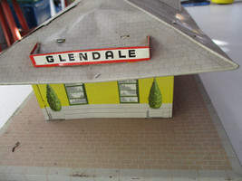 Marx Glendale Station Railroad Train Tin Building Playset Vintage Toy   - $37.27