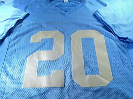 BARRY SANDERS / NFL HALL OF FAME / AUTOGRAPHED DETROIT LIONS CUSTOM JERSEY / COA image 2