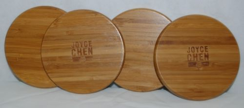 Columbian Home Joyce Chen J90-0129 Burnished Bamboo 4 Piece Coaster Set