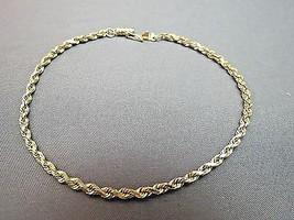 14k Yellow Gold Bracelet Rope Chain 5.48g Michael Anthony MA 2.5mm Wide ... - €275,37 EUR