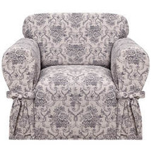 Kathy Ireland Chateau Chair Slipcover-Navy Blue - $82.99