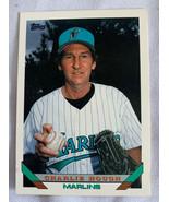 Vintage 1993 Topps Florida Marlins Charlie Hough Pitcher #520 Baseball Card - $4.99