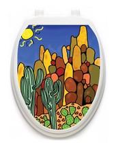Toilet  Tattoos® Saguro Catcus Vinyl Lid Cover Decor Reusable Decoration - $13.99