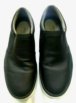 COLE HAAN MEN'S GRAND OS FALMOUTH SLIP ON BLACK GRAIN LEATHER SNEAKERS S... - $24.74