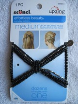 Scunci Upzing Beaded Hair Updo Stretch Style Comb Hairzing Medium Secure... - $8.00