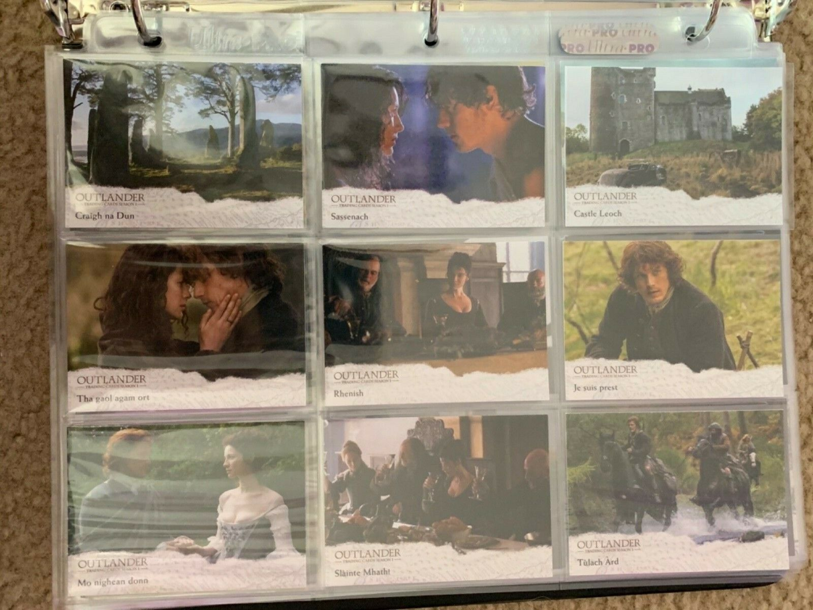 Outlander Season 1 Binder Wardrobe M37 B1 Promo Chase Base image 9