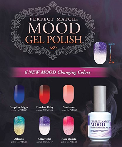 Primary image for LeChat Gel Polish Mood Changing 2016 - 6 Colors (MG43 - MG48)