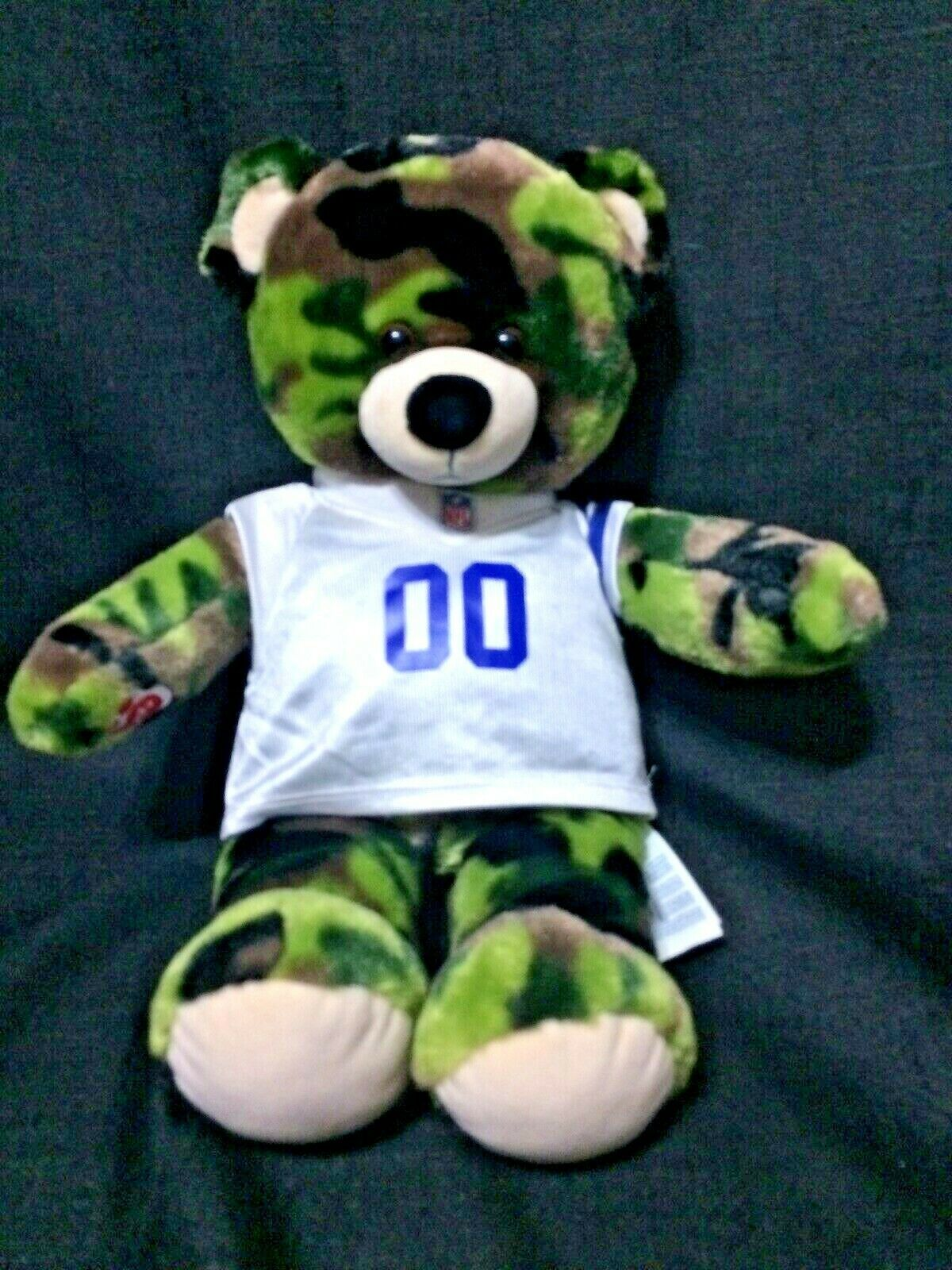 """Build a Bear 17"""" Camouflage Teddy Bear With NFL Dallas Cowboy Outfit Jersey - $8.00"""