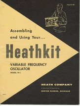 Heathkit Manual: Variable Frequency Oscillator Model VF-1 595-91 - $9.49