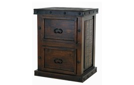 Rustic Old West Gran Hacienda 2 Drawer File Cabinet Solid Wood Lodge Old... - $595.00