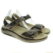 Aravon by New Balance Womens Brown Leather Adj Straps Sandals 10 D Wide - $28.70