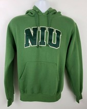 Champion NIU Embroidered 50/50 Green Hoodie Mens Size S - $32.66