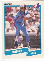 #344 Tom Foley 1990 Fleer Main Set - $3.25