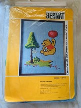 Bernat S0 8082 Cub Pilot Stitchery Kit Bear Balloon Tree NOS Crewel Embr... - $19.91
