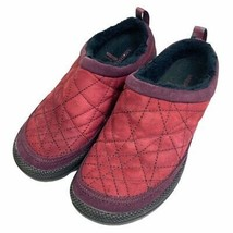 Merrell Womens Neve Slid Mules Flat Shoes Red Leather Slip On Air Cushion 6.5 - $27.74